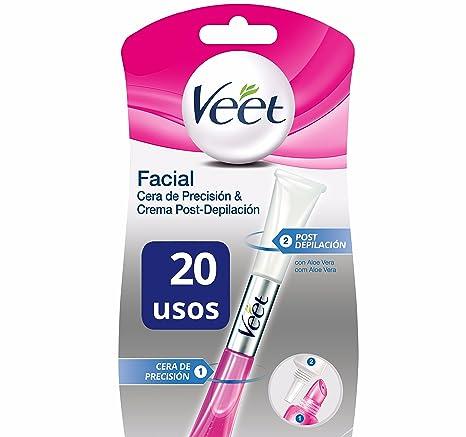 Veet Lapiz Facial Cera de Precision & Crema Post-depilación - 20 gr