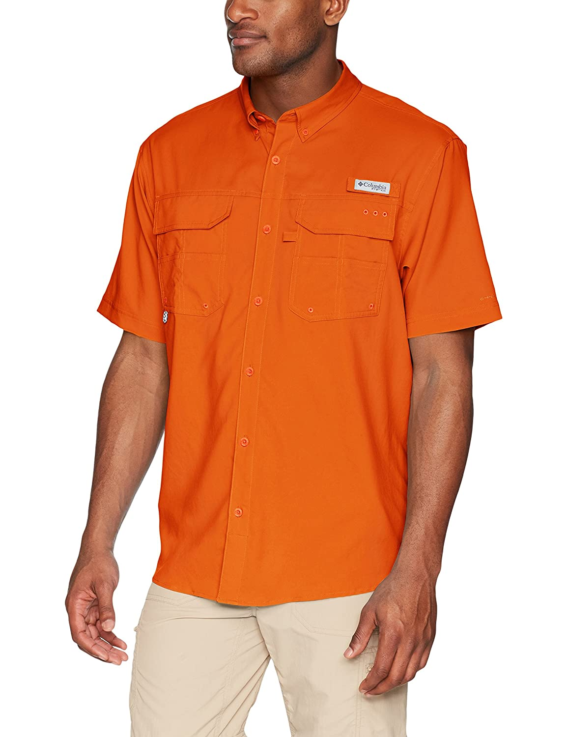 302fa03467f ... out in the elements, this UPF 50 sun-protecting short-sleeve fishing  shirt is crafted from a lightweight, cool-wearing fabric with our Blood \'N  Guts ...