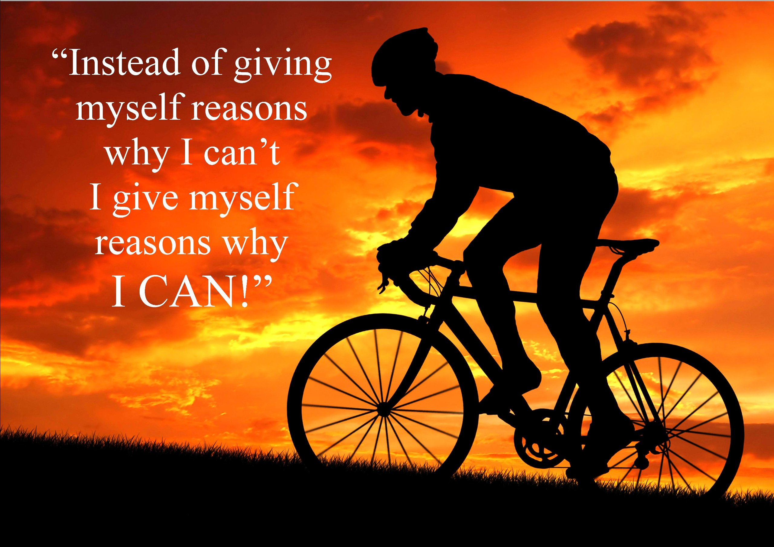 Large (A2 24inch x 16 inch)Inspirational Motivational Quote Sign Poster Print Picture(CYCLING B) SPORTS, BOXING, CYCLING, ATHLETICS, BODYBUILDING, TRIATHLON,BASKETBALL, FOOTBALL, RUGBY, SWIMMING, MARTIAL ARTS ETC ETC