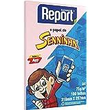 Papel Sulfite Report Senninha Rosa A4 75g 100 folhas