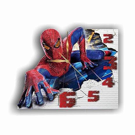 Amazoncom Original Handmade Wall Clock Spiderman 118 Get