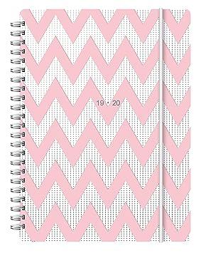Letts Chevron 19/20 - Agenda escolar (tamaño A5), color rosa ...