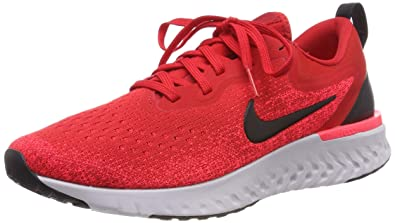 b89a33faa7f Nike Men s Odyssey React Running Shoes(Red Black White