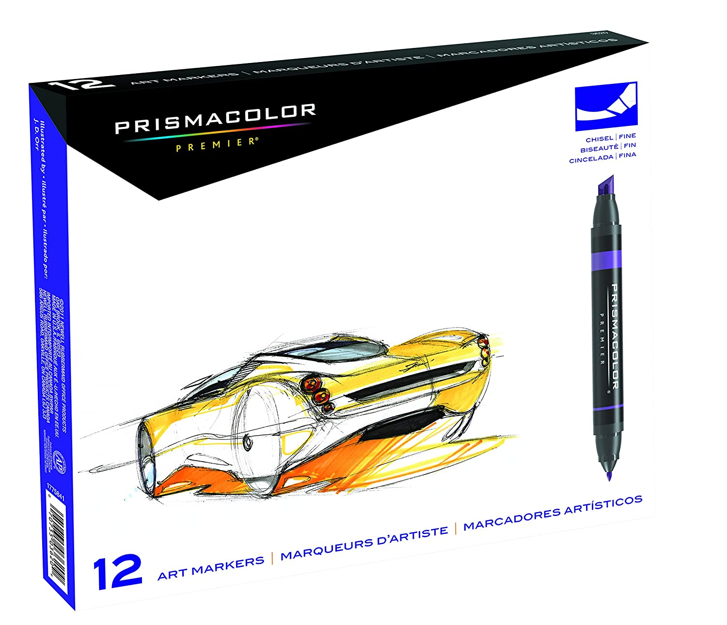 Art color markers - Amazon Com Prismacolor Premier Double Ended Art Markers Fine And Chisel Tip 12 Count Artists Markers Office Products