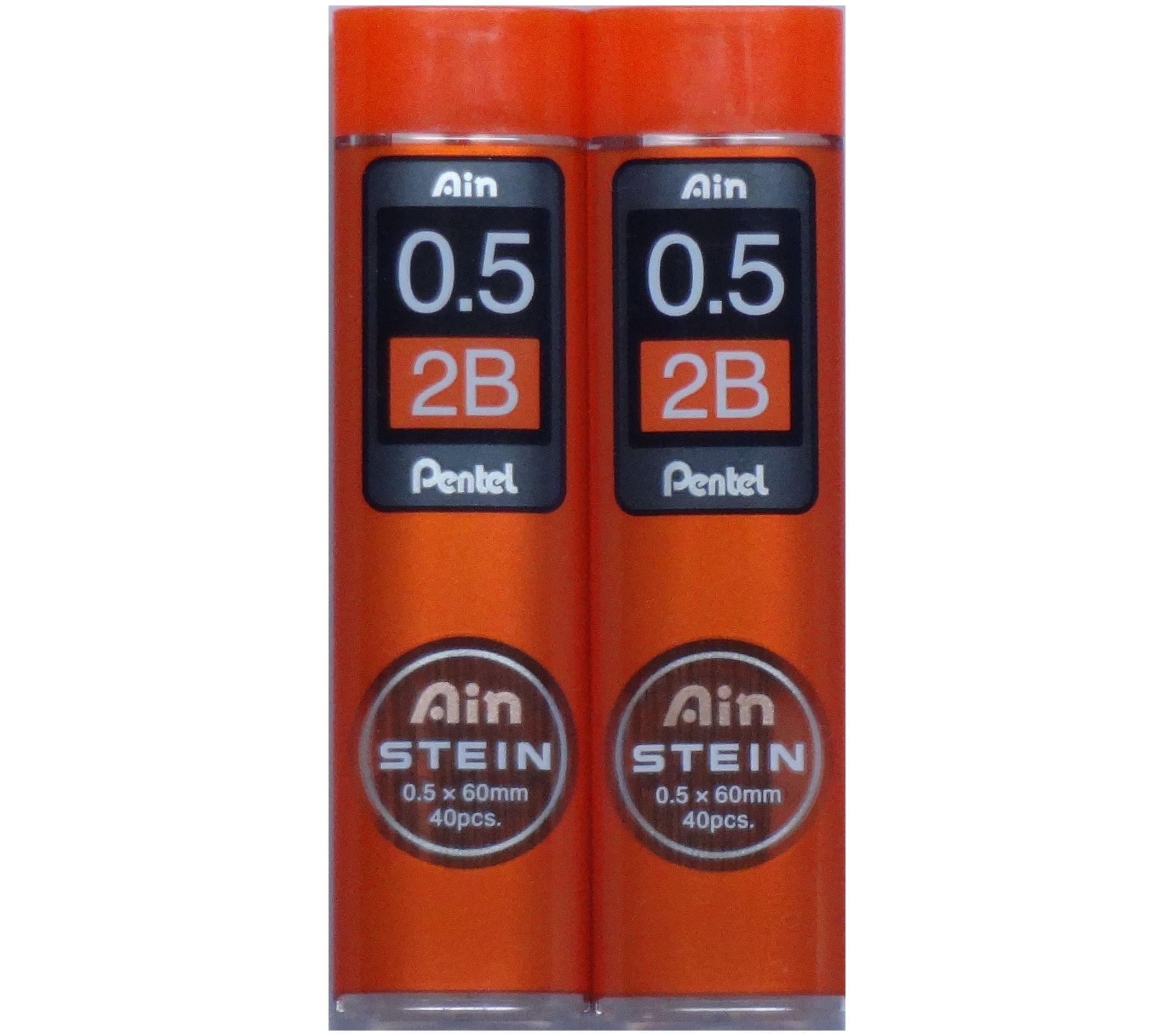 Pentel Ain Stein 80 Minas (2 Tubos) 0.5mm 2B