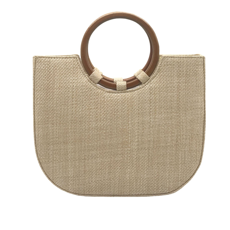 Youndcc Women Woven Straw Bag Rattan Bag Tote Bag Shoulder Bag Crossbody Bag Handbag Beach Bag, Handwoven/Crochet/Round Handle by Youndcc (Image #1)