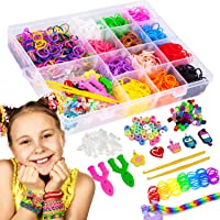 Liberry Rainbow Rubber Bands Bracelet Making Kit for Girls 4 5 6 7 8 9 10 Years Old, 2300+ Loom Bands, All in One Design, Great Kid Creativity DIY Gift Make Your Own Bracelets
