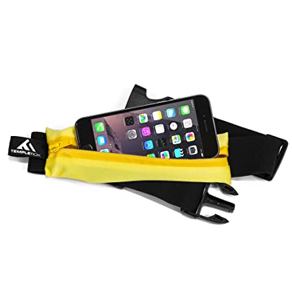 8d8c56122983 TempleRok Running Waist Pack Belt - Best Fanny Pack for Runners -  Expandable And Weather Resistant Pouch Bag