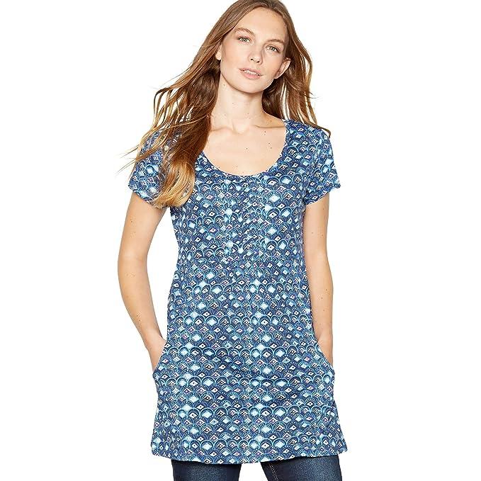 fff9bd361fd Mantaray Womens Navy Diamond Print Cotton Tunic Top  Mantaray   Amazon.co.uk  Clothing