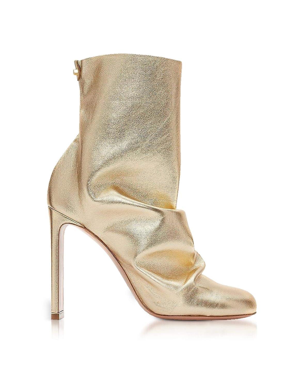 - NICHOLAS KIRKWOOD Women's 910A99NLM2Y25 gold Leather Ankle Boots