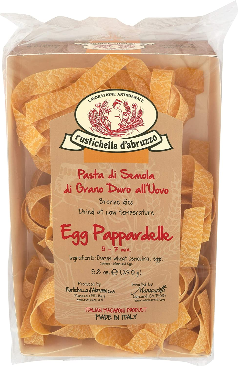 Rustichella D Abruzzo Pappardelle Egg Pasta 8 8 Ounce Pappardelle Pastas Grocery Gourmet Food