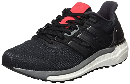 adidas Supernova W, Scarpe Running Donna, Nero Black/Iron Metallic/Core Pink
