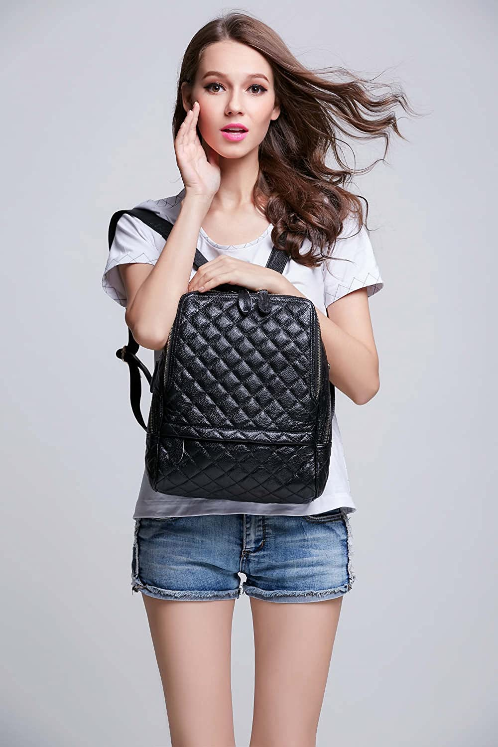 fb848deee41 Coolcy Casual Women Real Genuine Leather Backpack New Vintage Style  Shoulder Bag