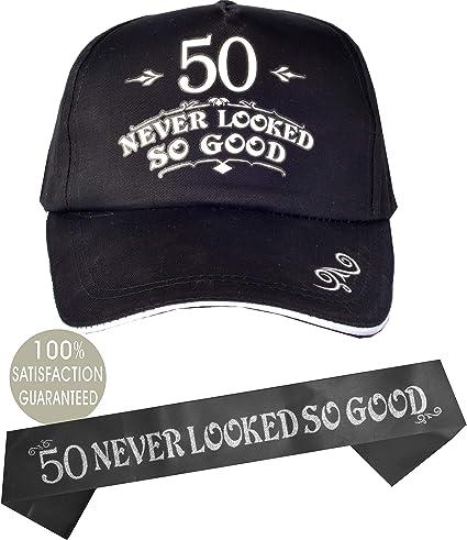Amazon.com: 50 gorras de béisbol negras, 50 nunca lucen tan ...