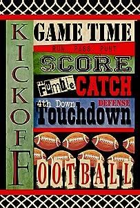 Toland Home Garden Touchdown 12.5 x 18 Inch Decorative Sport Football Game Ball Kick Catch Score Garden Flag