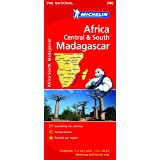 Africa Cental & South, Madagascar NATIONAL Map (Michelin National Maps)
