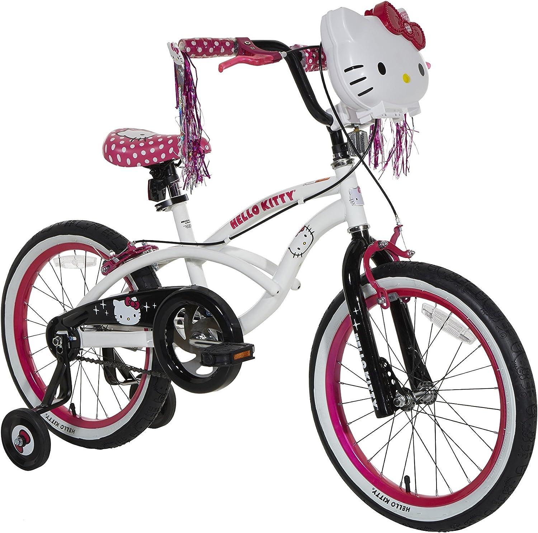 Hello Kitty Bicicleta niñas, Color Blanco/Negro/Rosa, tamaño único ...