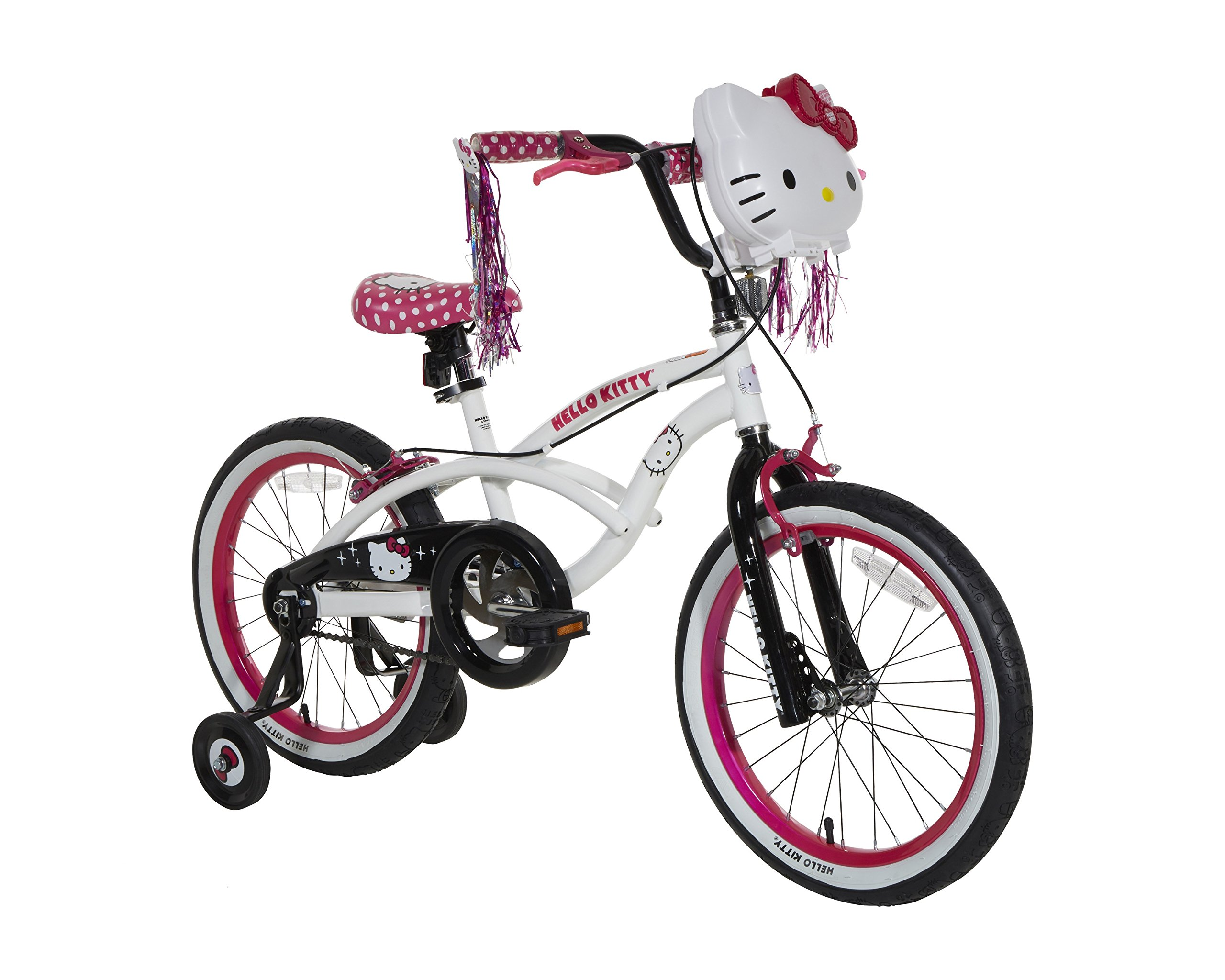 Hello Kitty Girls Bike, White/Black/Pink, 18''/One Size by Hello Kitty (Image #1)