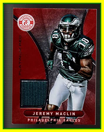 e1471cafd Amazon.com  2012 Totally Certified Red Materials GAME USED JERSEY  55 Jeremy  Maclin Philadelphia Eagles Missouri Tigers Serial  144 299  Sports  Collectibles