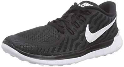 NIKE Women's Free 5.0 Running Shoes Black/Dark Grey/Dove Grey/White Size