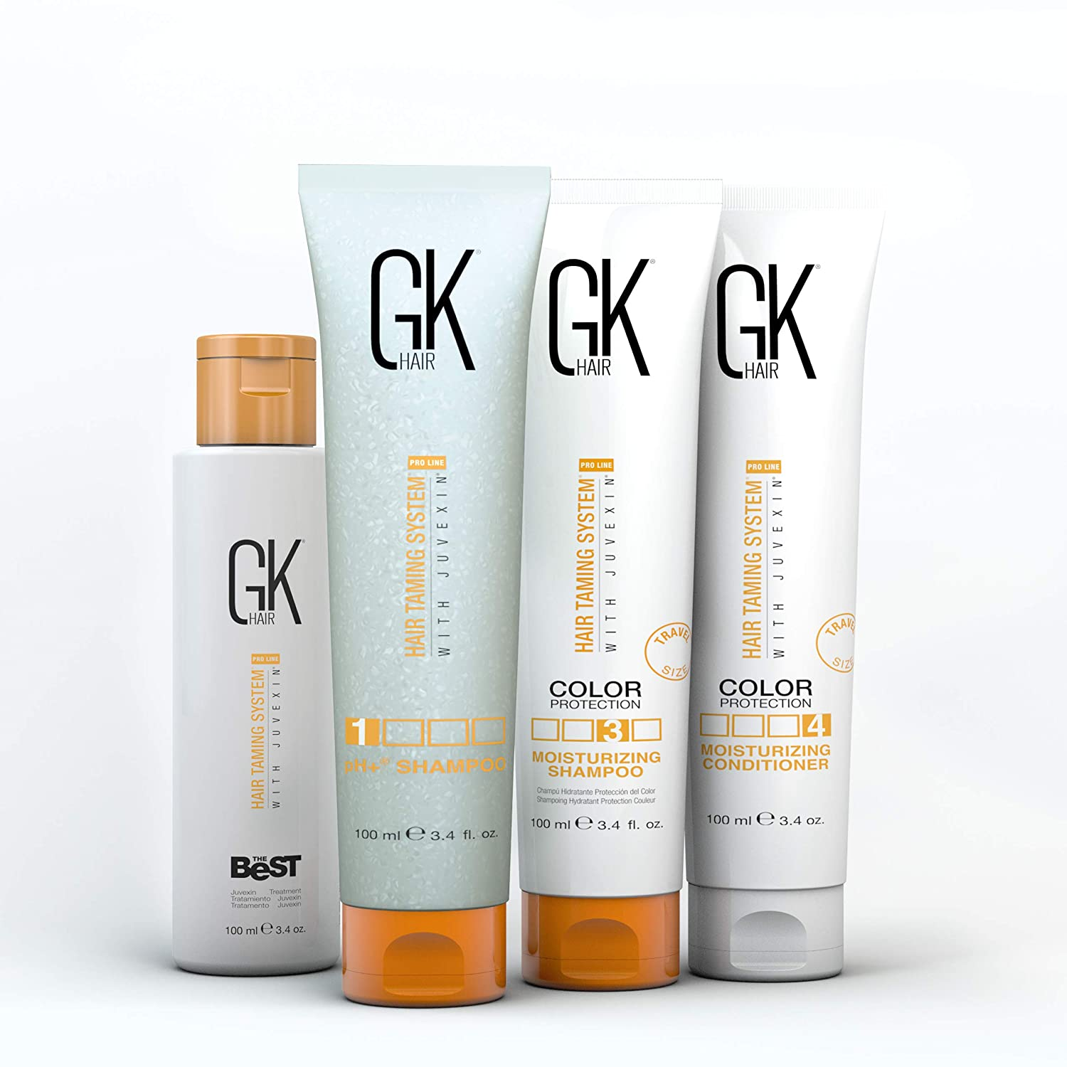 Global Keratin GKhair The Best Professional Hair Straightening / Taming / Smoothing Treatment (3.3oz/100ml) Removes Frizz   Silky, Smooth & Natural Hair - Formaldehyde Free TIBOLLI LLC GKH JT 420 30