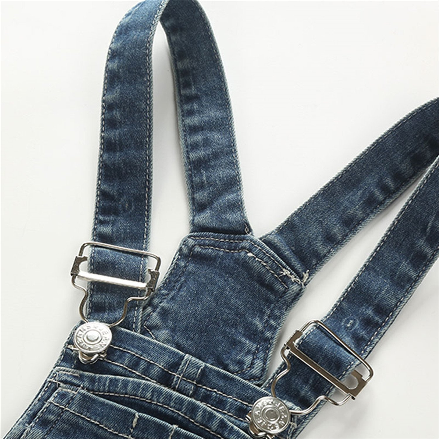 Hoared Spring//Autumn Style Ripped Denim Overalls Jumpsuits Casual Kids Jeans Toddlers Clothes