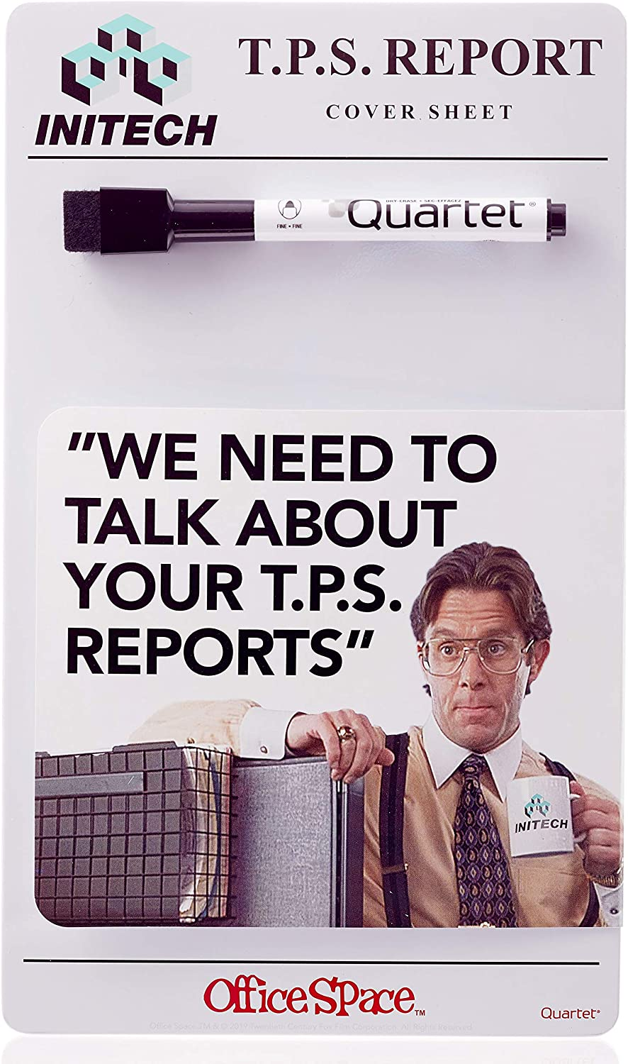 Quartet Dry Erase Board, TPS Report Cover Sheet from Office Space Movie, 6