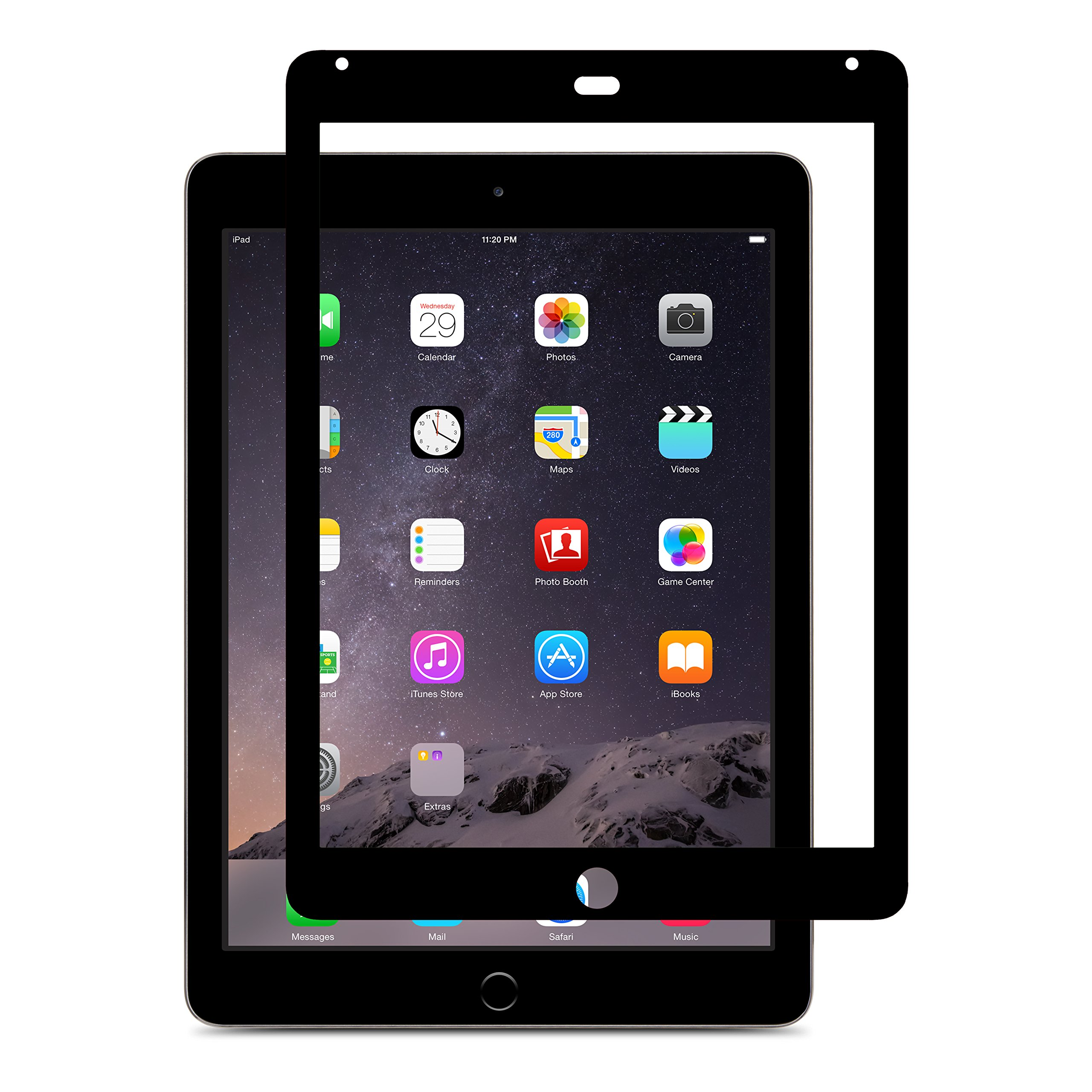 Moshi iVisor Glass for iPad Air 2 - Black by Moshi