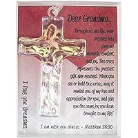 Keepsake Cross for Grandma with Poem and Verse