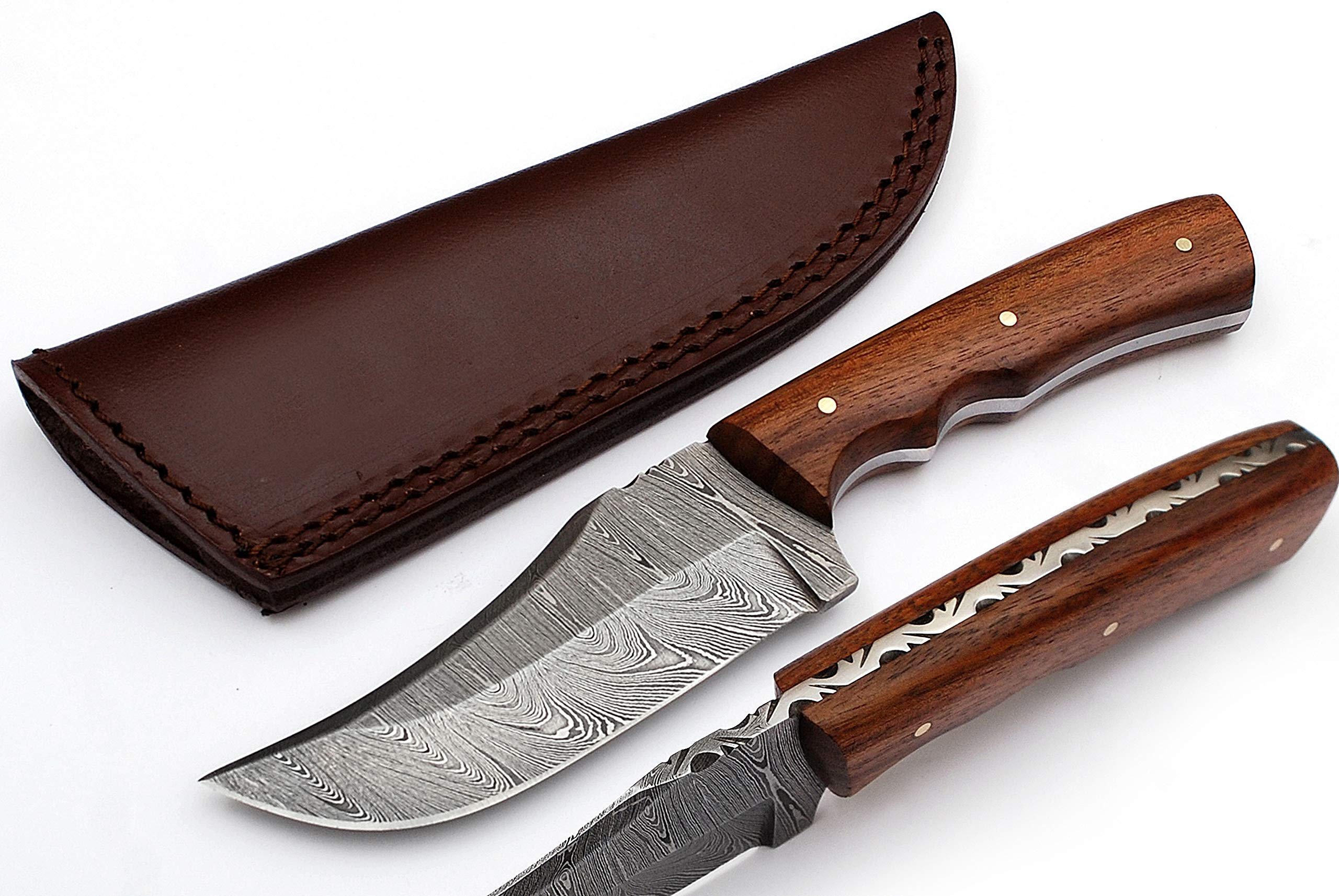 Anna Home Collection Custom Made Damascus Steel Hunting/Skinner Knife AN-9013-W