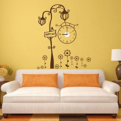 Buy Ascent Royal Designer Lamp PVC Vinyl Wall Sticker Clock Online ...