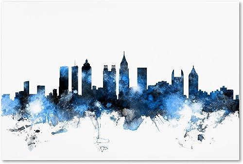 Atlanta Georgia Skyline White