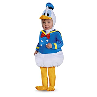 Disney Disguise Baby Boys' Donald Duck Prestige Infant Costume, Blue, 6-12 Months: Clothing