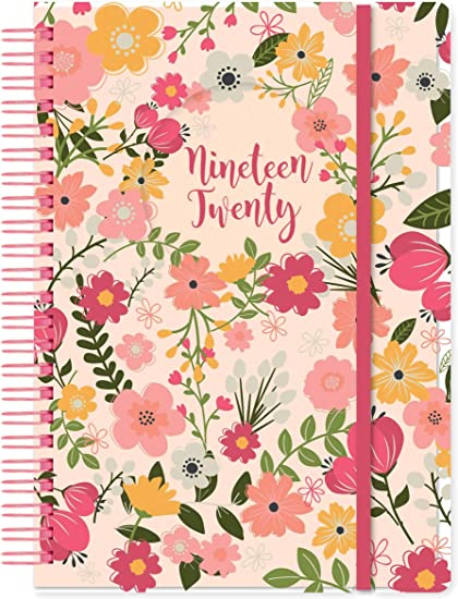 Flower Academic 2019-2020 - Agenda (tamaño A5), diseño de flores ...