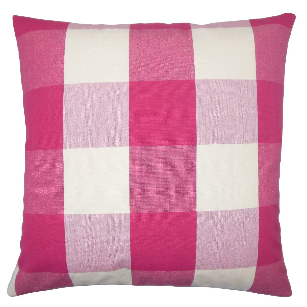 The Pillow Collection Pyralis Plaid Bedding Sham Berry Standard//20 x 26