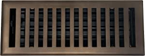 "Madelyn Carter Contemporary Solid Brass 4"" x 14"" Floor Vent Cover, Oil Rubbed Bronze"