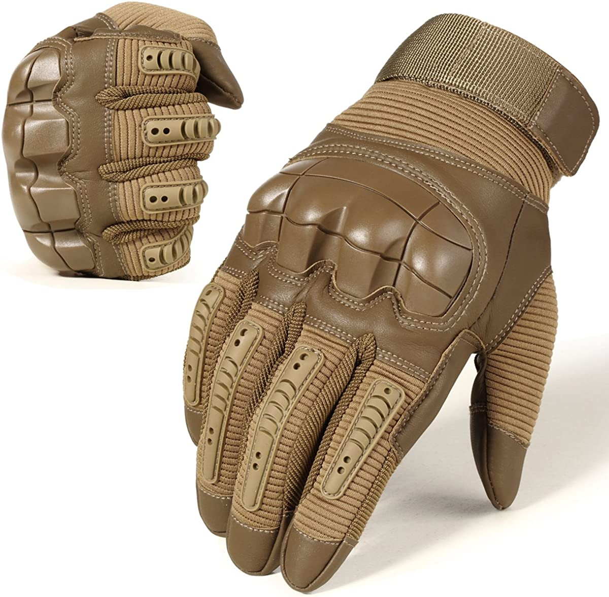 WTACTFUL Motorbike Gloves Touchscreen Full Finger Gloves Protective for Motorcycle Racing ATV Off Road Cycling Work