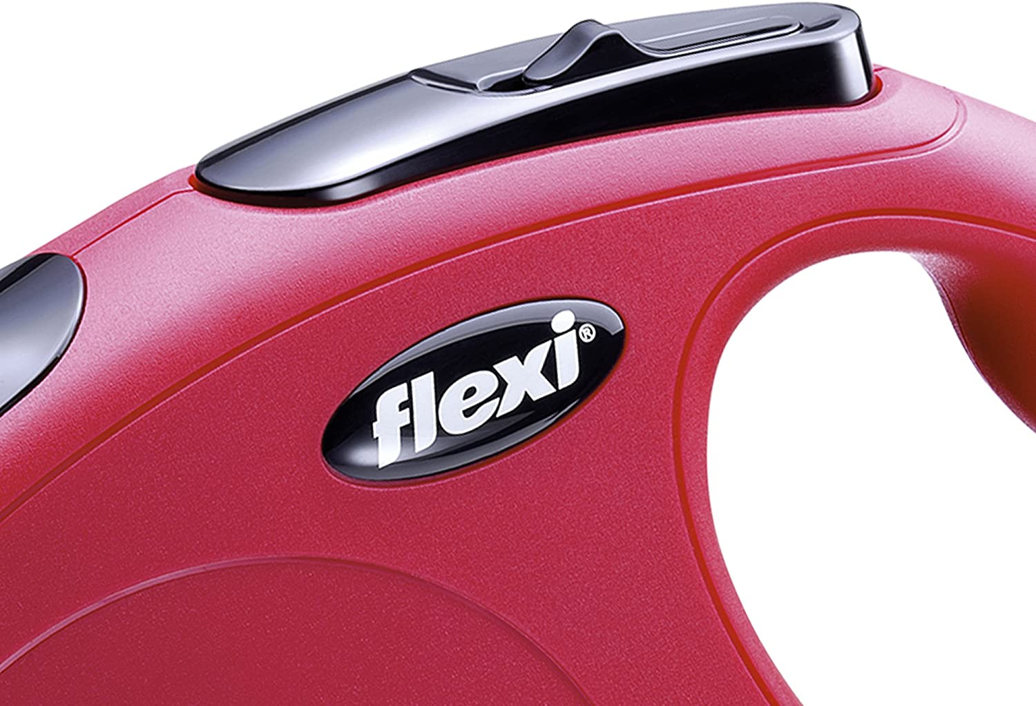 FLEXI New Classic Retractable Dog Leash Model Number: CL00T3.250.R 10 ft Tape Red Extra Small