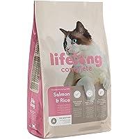 Marque Amazon - Lifelong Complete- Croquettes complètes pour chats adultes, au saumon et au riz, 3 x 3kg