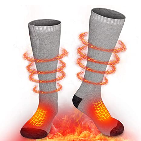 New Heating Socks Warm Foot Warmers Electric Warming For Hunting Ice Fishing Skiing Thermal Socks Foot Warmer Cotton Socks Skiing & Snowboarding