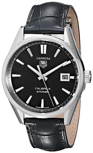 TAG Heuer WAR211A.FC6180 - Reloj para hombres, correa de cuero color negro: Amazon.es: Relojes