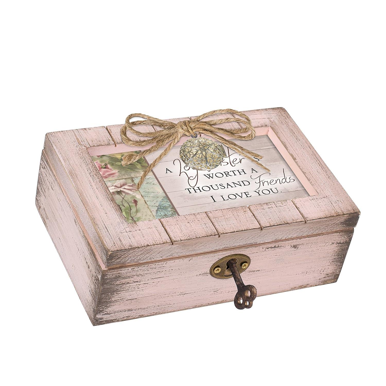 Cottage Garden Sister Worth Thousand Friends Blush Pink Locket Petite Music Box Plays Edelweiss