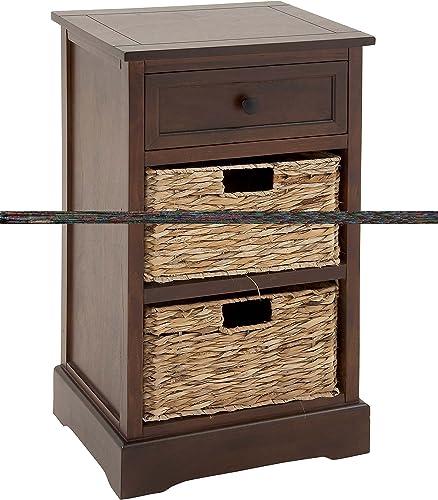 Deco 79 96176 Modern Cabinet with 2-Wicker Basket