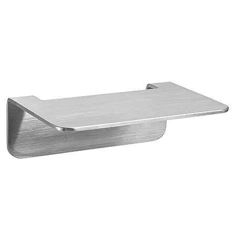WEISSENSTEIN Repisa baño Adhesiva de Acero Inoxidable | Balda baño Pared | Estante baño sin Taladro | 14 x 10 x 5 cm