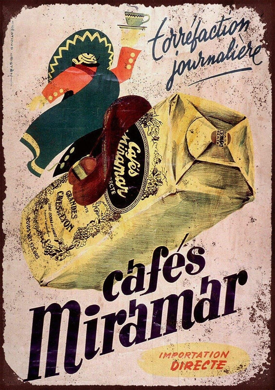 LORENZO French Cafe Miramar Vintage Metal Cartel de Chapa ...