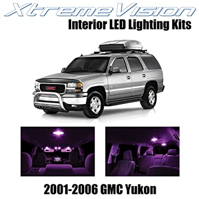 Xtremevision Interior LED for GMC Yukon 2001-2006 (18 Pieces) Pink Interior LED Kit + Installation Tool: Automotive