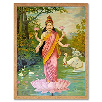 VARMA GODDESS LAKSHMI Poster Picture Painting Canvas art Prints