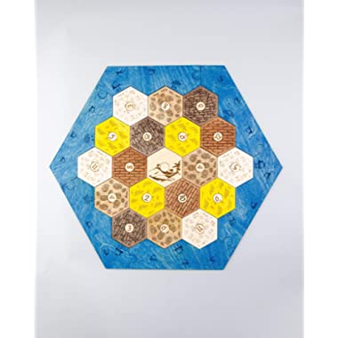 Catan Game Board Settlers Wooden Settlers of Catan Gifts Card Holders Box Base 4-players Standard-Size Board