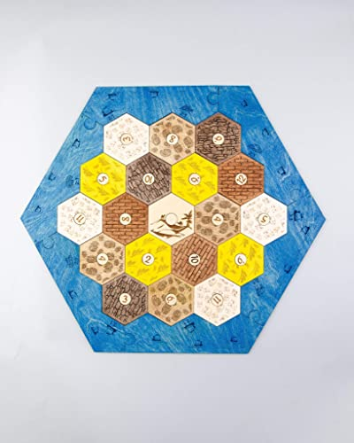 Catan Game Board Settlers Wooden Settlers Of Catan Amazoncom