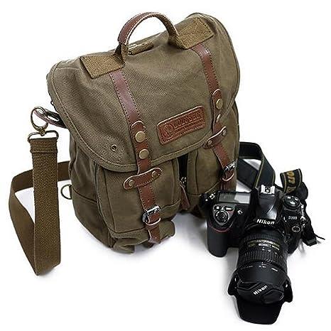 iDream - Mochila profesional 2 en 1 para cámara de fotos con correa, asa y